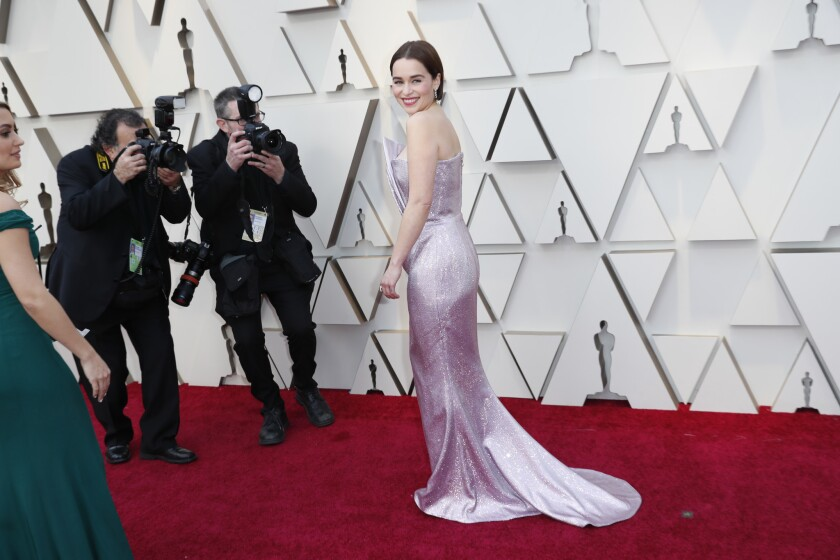 Emilia Clarke during the arrivals at the 91st Academy Awards at the Dolby Theatre at Hollywood & Highland Center in Hollywood.