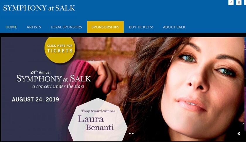 Symphony at Salk stars Laura Benanti