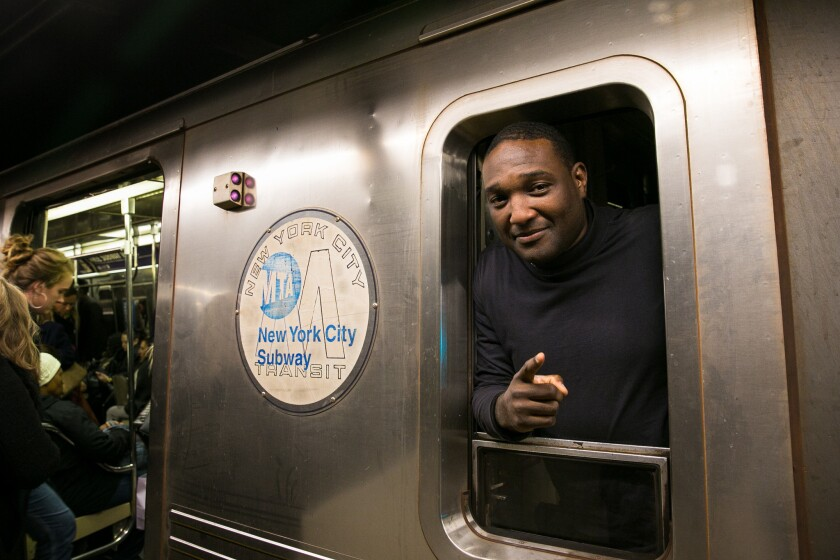 MTA train operator Kenric Lever, 41, says he slows his B train when it passes a malfunctioning signal beneath Central Park West.