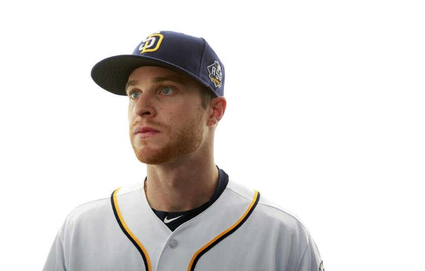 San Diego Padres infielder Cory Spangenberg.