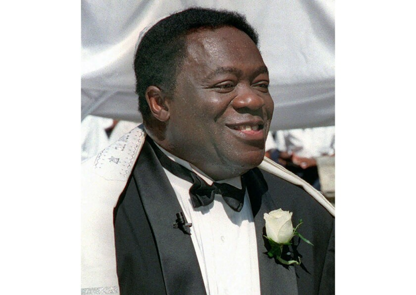 Yaphet Kotto appears on his wedding day in Baltimore, Md. on July 12, 1998.