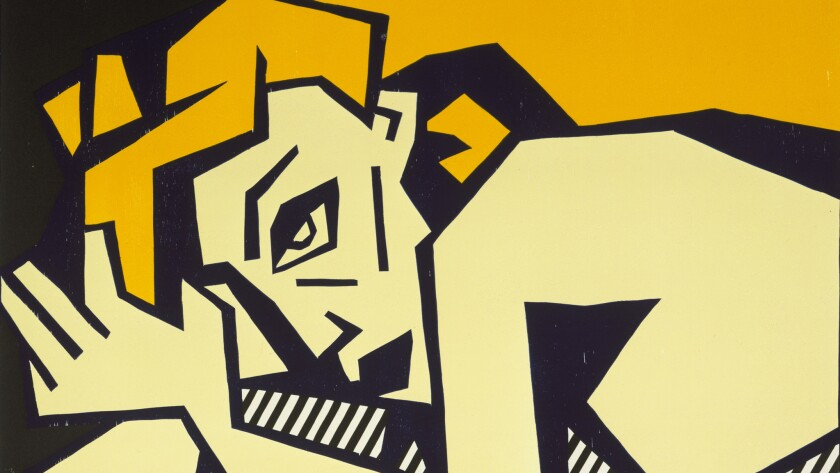 "A detail is seen from Roy Lichtenstein's ""Reclining Nude"" (1980), recently gifted to the Los Angeles County Museum of Art."