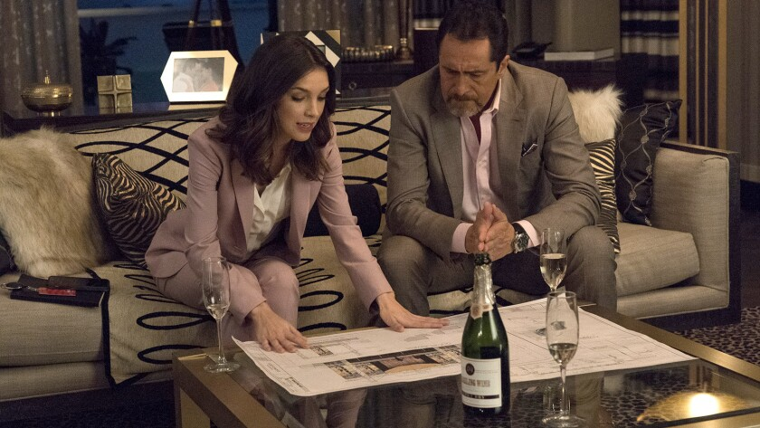"Denyse Tontz and Demián Bichir in in a new episode of the opulent drama ""Grand Hotel"" on ABC."