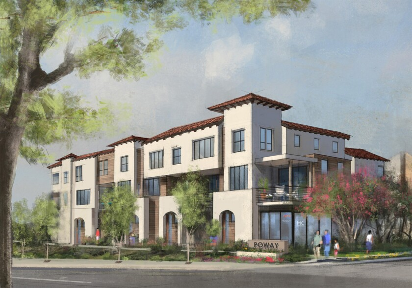 An artist's rendering of the future Poway Commons.