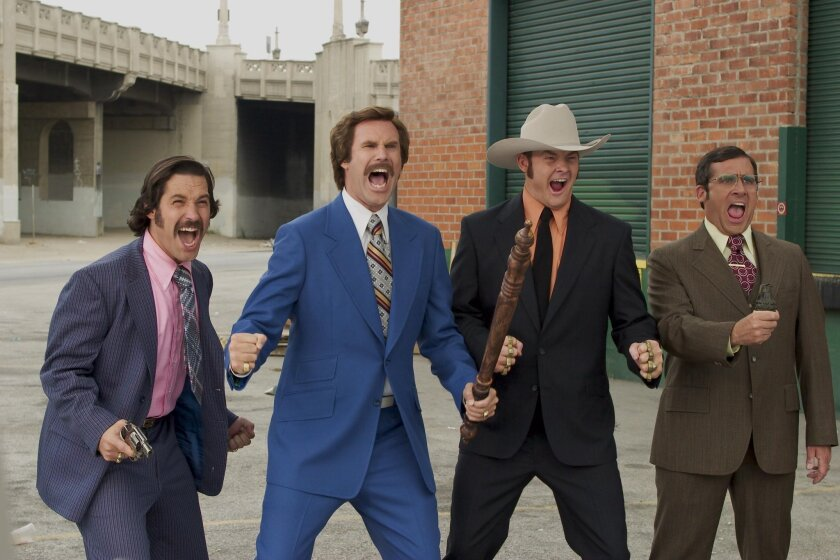 """""""Anchorman"""" is among the many films that have been shot in San Diego over the last several decades."""