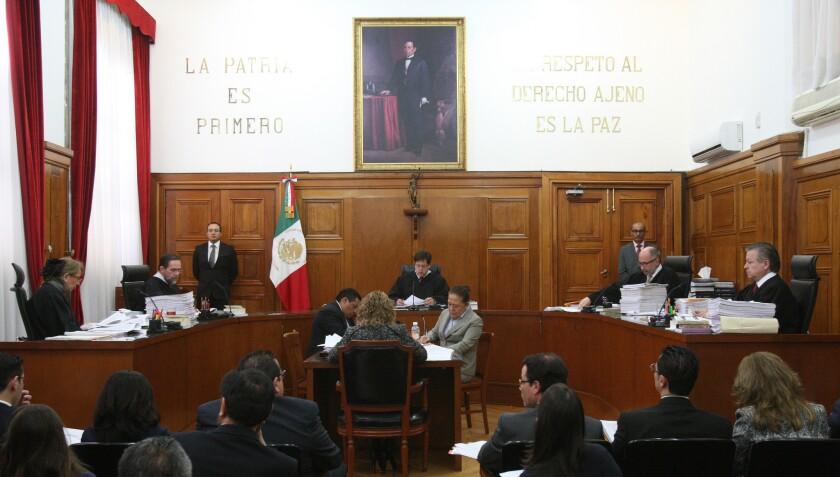 Fotografía general de la sala de la Suprema Corte de Justicia de la Nación.