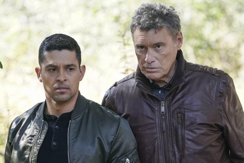 """Wilmer Valderrama, left, and Steven Bauer stand next to each other on""""NCIS."""""""