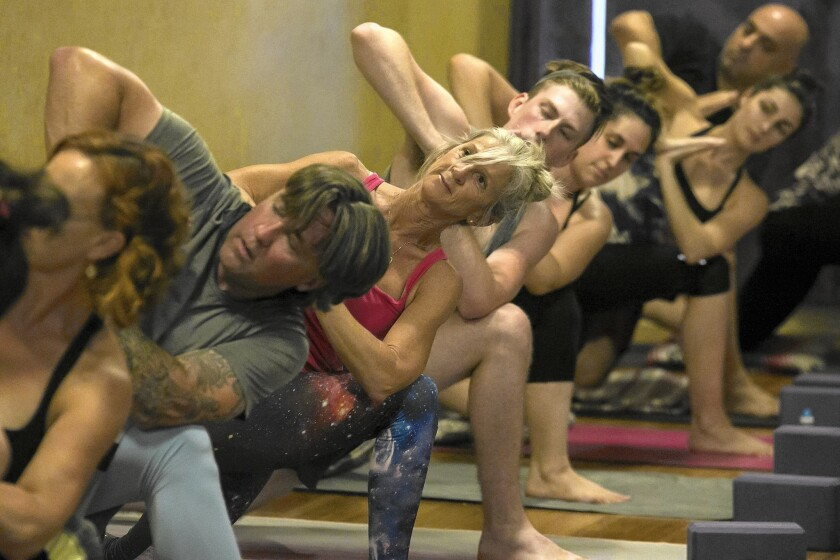 A vinyasa flow class taught by Christy Marsden at Yoga Blend in Burbank.