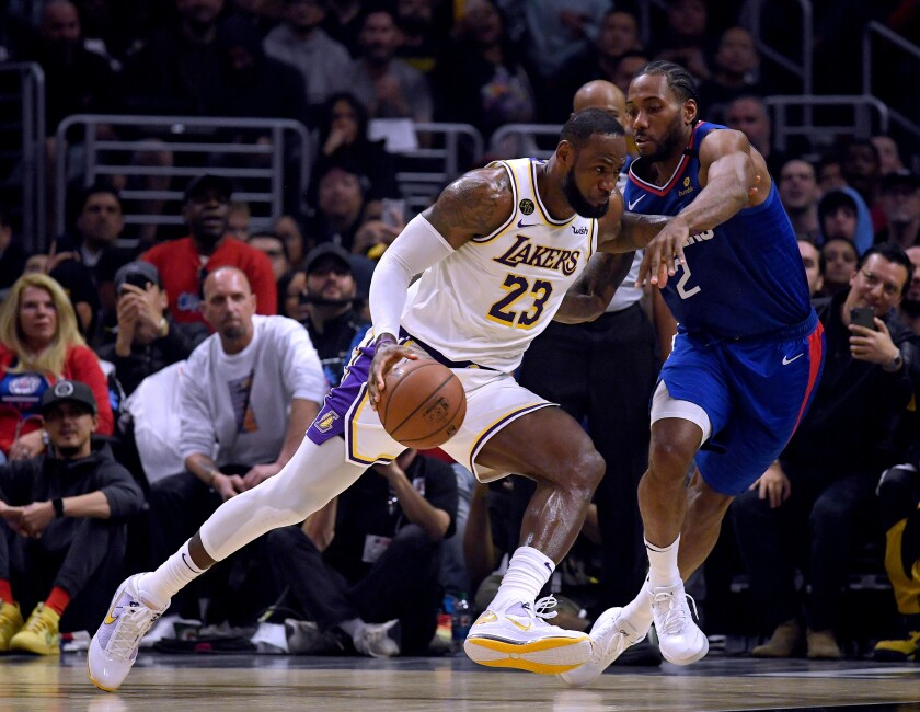 Column: After being pushed around by Clippers, Lakers prove they can beat their rivals