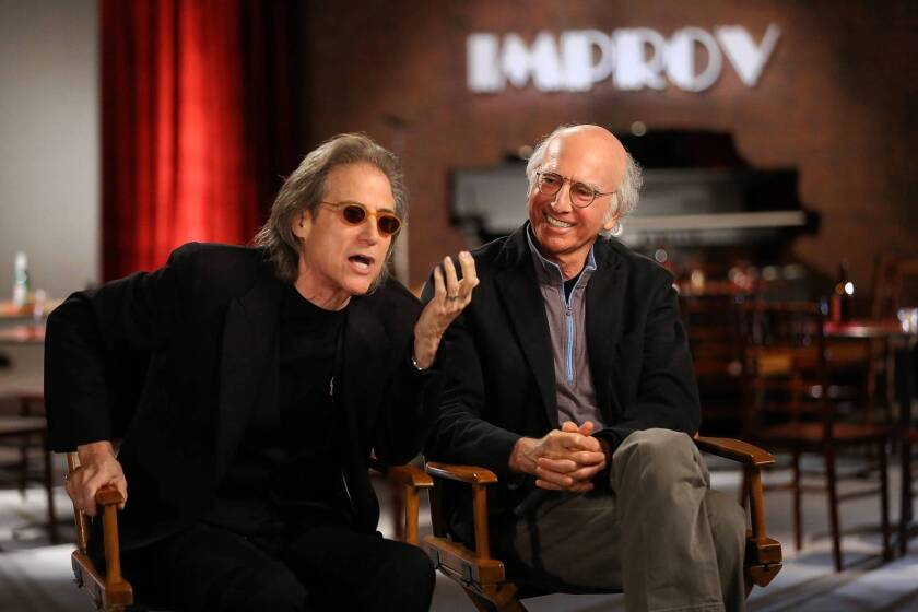 """Richard Lewis, left, and Larry David in """"The Improve: 50 Years Behind the Brick Wall."""""""