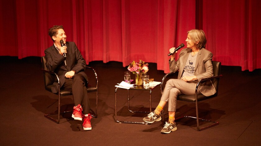 """Transparent"" creator Jill Soloway, left, and poet Eileen Myles discuss creativity and their breakup at the Hammer Museum."