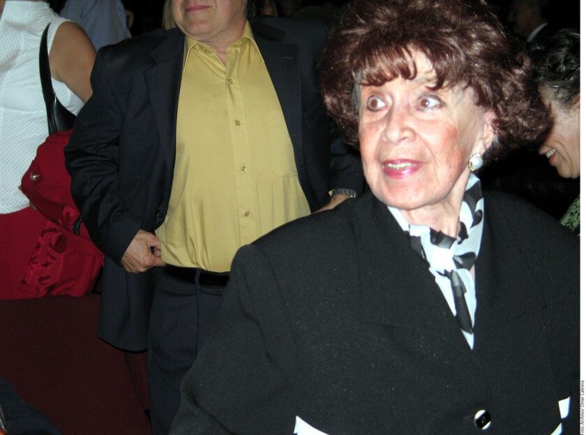 Paloma Gálvez, viuda de José Alfredo Jiménez.