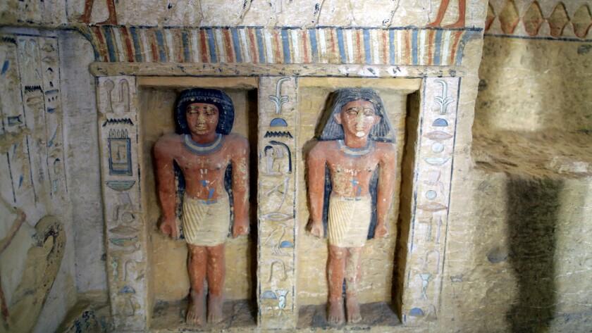 Newly discovered tomb in Saqqara, Giza, Egypt - 15 Dec 2018