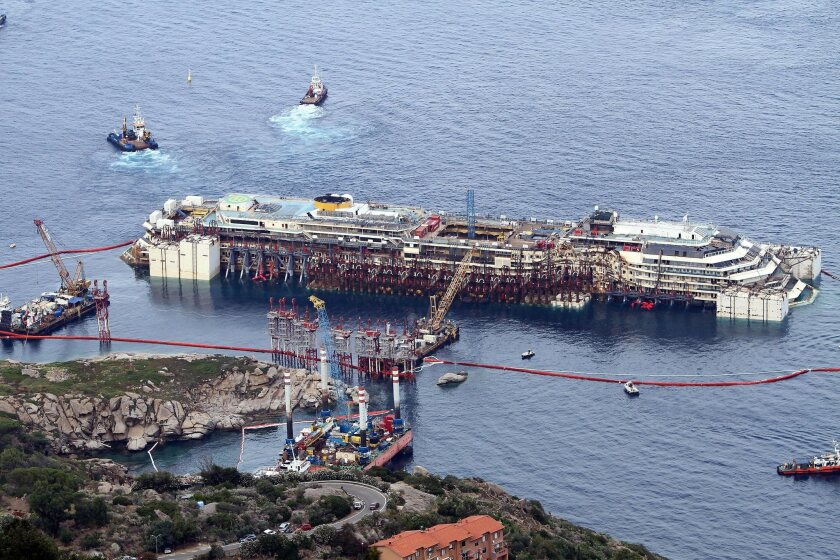 Costa Concordia refloating operation