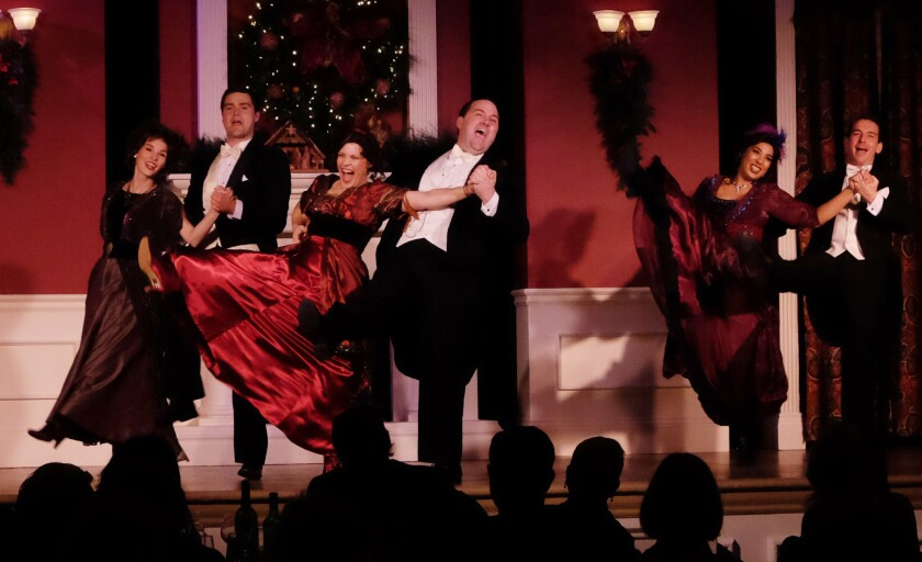 """A scene from Lamb's Players Theatre's """"An American Christmas"""" at the US Grant Hotel."""
