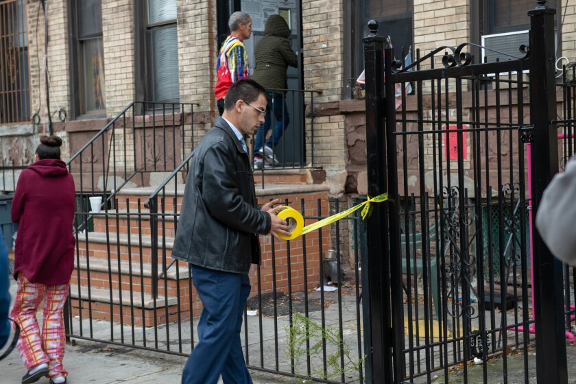A 45-year-old man and a 52-year-old woman were found shot dead in a possible murder-suicide in a Brooklyn apartment on Menahan St. near Wilson Ave. in Bushwick Friday morning.