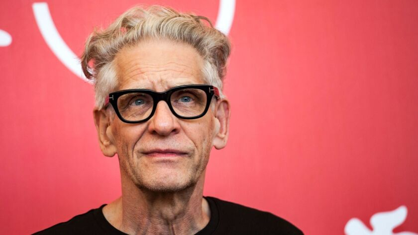 Canadian director David Cronenberg at the 75th Venice Film Festival on Sept. 5. He was presented with the Golden Lion for lifetime achievement award during the festival.