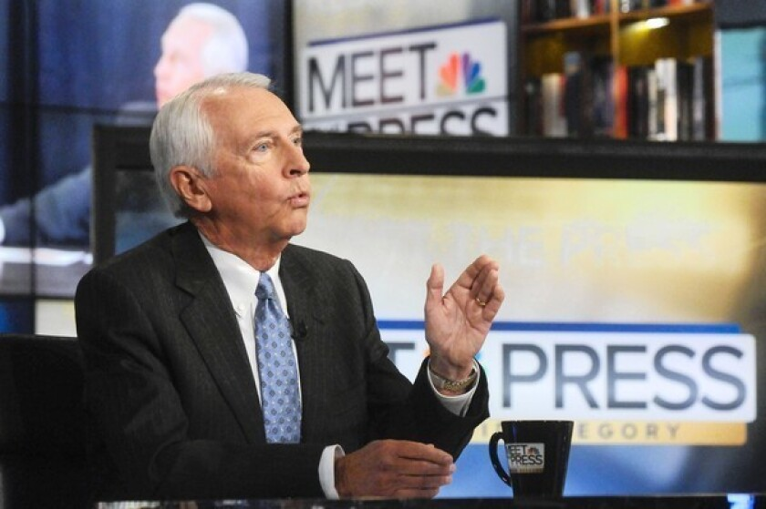 """Democratic Kentucky Gov. Steve Beshear, an ardent proponent of President Obama's healthcare law, appears last month on NBC's """"Meet the Press."""""""