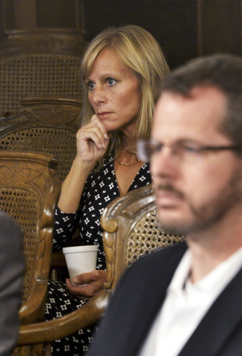Republican state Reps. Cindy Gamrat and Todd Courser in Lansing, Mich., on Sept. 10, 2015.