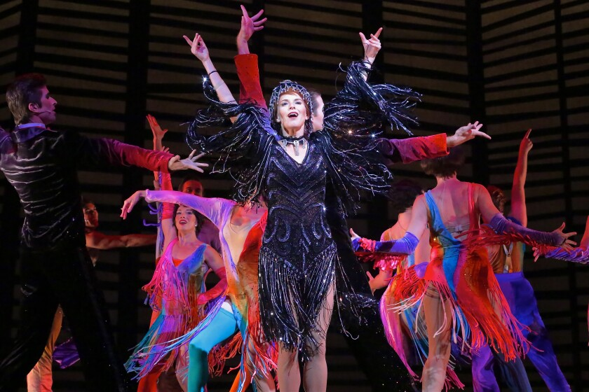 """Allison Spratt Pearce as Victoria Grant in Moonlight Stage Productions' """"Victor/Victoria."""""""