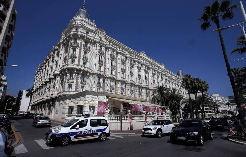 The Carlton InterContinental hotel in Cannes, on the French Riviera. A thief made off with $136 million in diamonds from the hotel on Sunday.