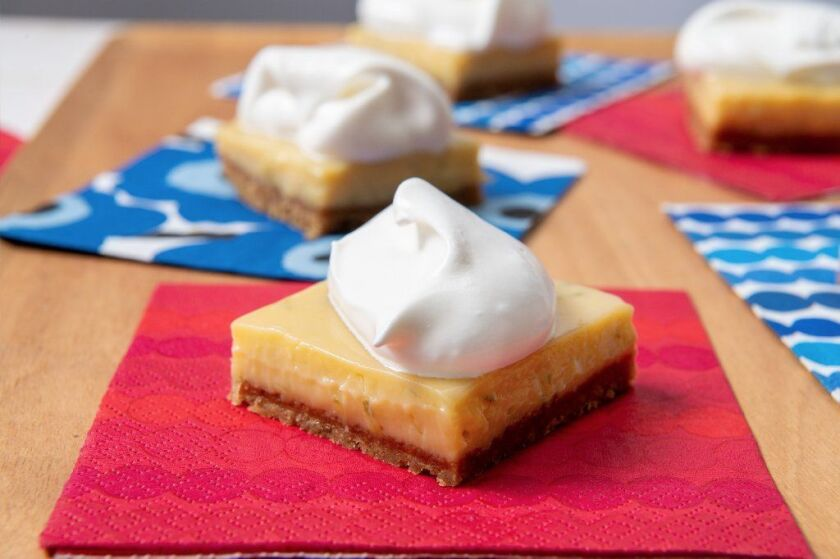 Nicole Rucker's key lime pie, in a bar variation.