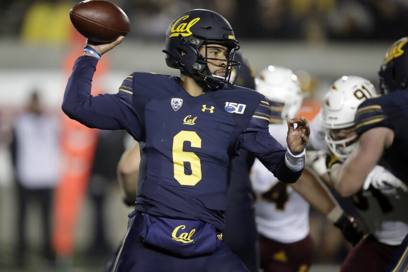 Cal backup QB Devon Modster attempts a pass against Arizona State on Friday night.