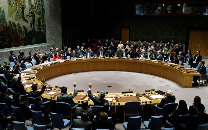 Vista general de 14 de los 15 miembros del Consejo de Seguridad de la ONU. EFE/Archivo