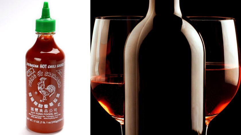 Vintage Enoteca, a wine bar and restaurant in Hollywood, is hosting a wine tasting with Sriracha food pairings.