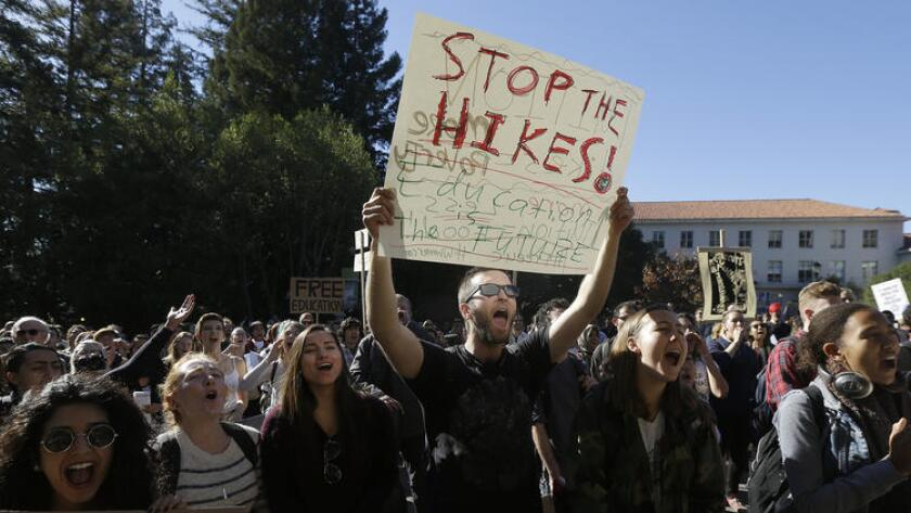 Students protest tuition hikes