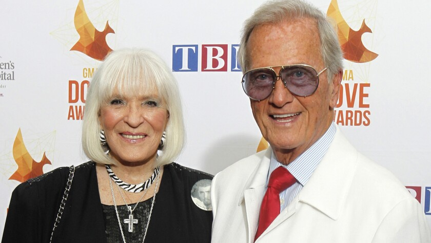 Shirley and Pat Boone in Nashville in October 2014.