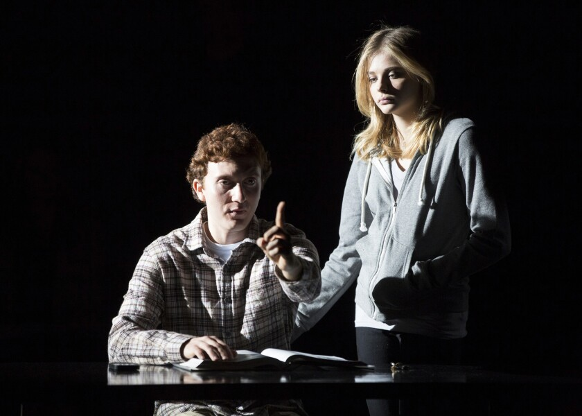 """Daryl Sabara and Chloe Grace Moretz in """"The Library."""""""