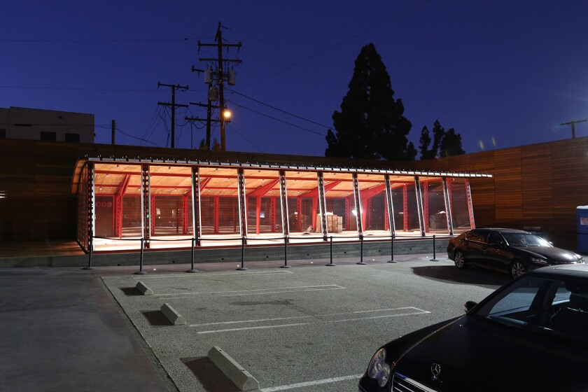 """L.A. architect Jeff Allsbrook, of Standard Architecture, recently helped a client install one of Jean Prouve's historic """"Structure Nomades"""" in West Hollywood. He says he is intrigued by design that is nimble, executed with simple materials at low cost."""