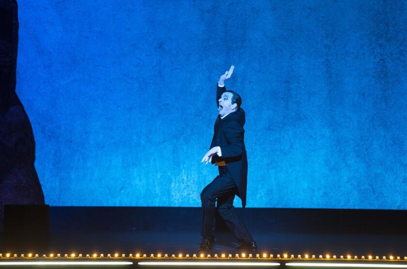 "Mikhail Baryshnikov as Vaslav Nijinsky in Robert Wilson's ""Letter to a Man."""