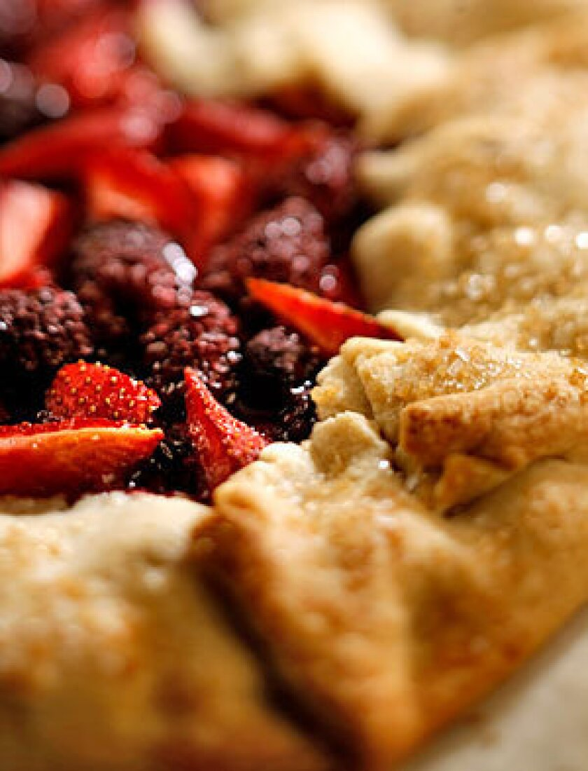 Mixed berry crostata