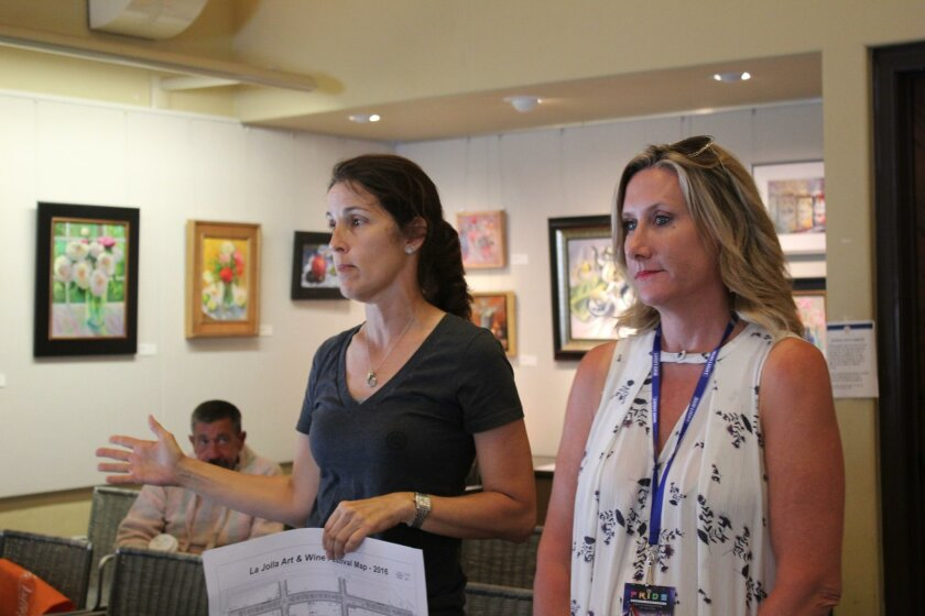Sponsor chair Andrea Dahlberg and event producer Laurel McFarlane provide details about the fall La Jolla Art & Wine Festival.