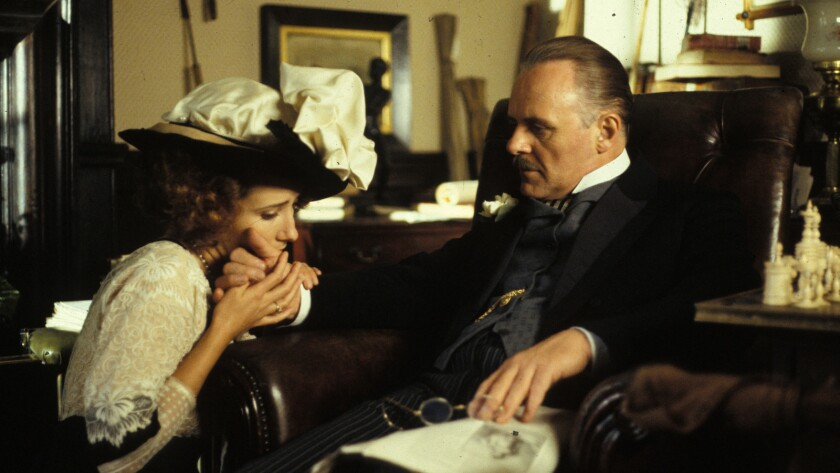 """Emma Thompson and Anthony Hopkins in the movie """"Howards End."""""""