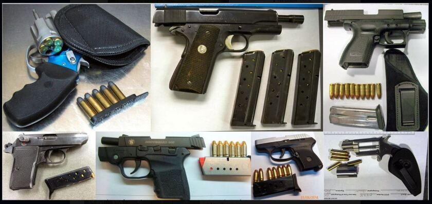 Firearms found by TSA