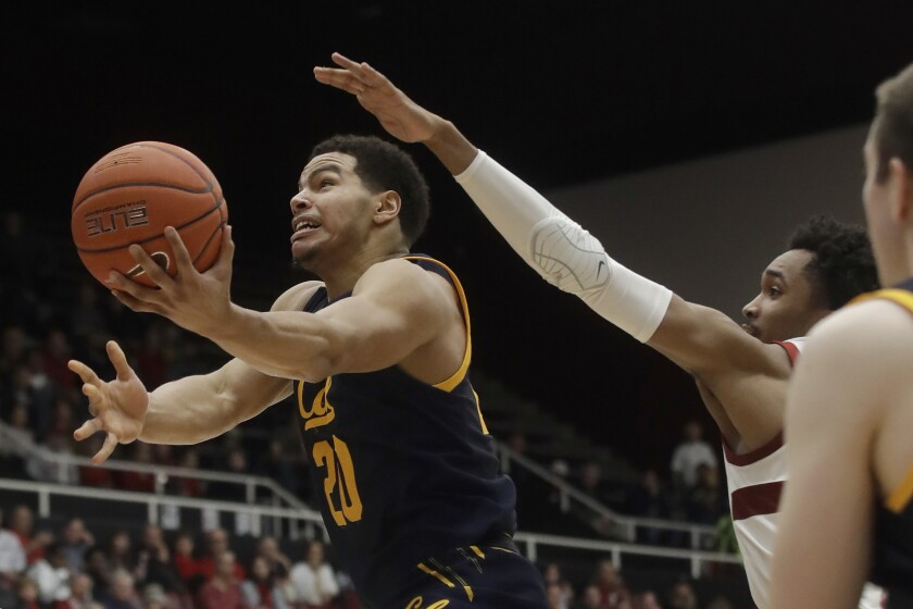 Cal guard Matt Bradley (20) will be eligible immediately at SDSU, thanks to the NCAA's new transfer rule.