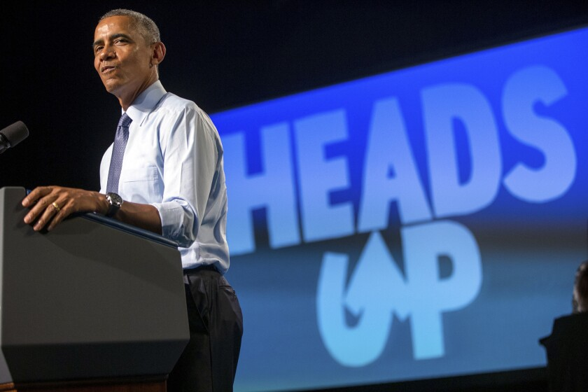 President Obama speaks in Warren, Mich., about community college affordability on Wednesday.