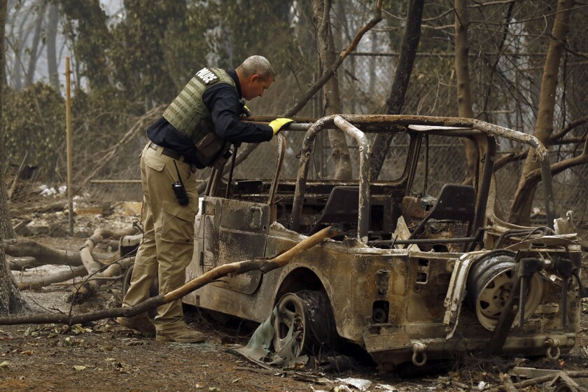 The search for victims continues in Paradise, Calif., after the deadly Camp fire raced through the community.