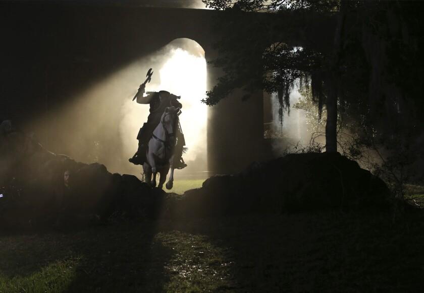 "The Headless Horseman in a scene from TV's ""Sleepy Hollow."""