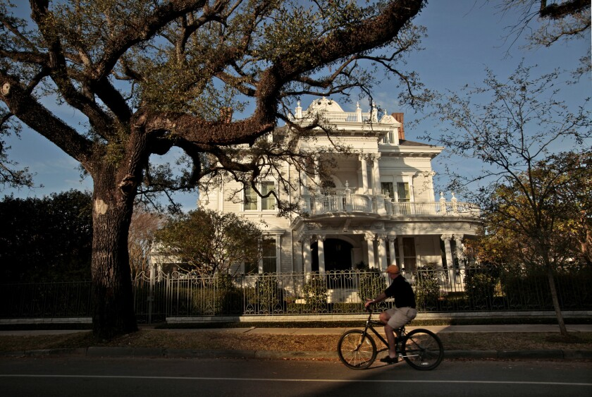 One of the mansions in the Garden District of New Orleans.
