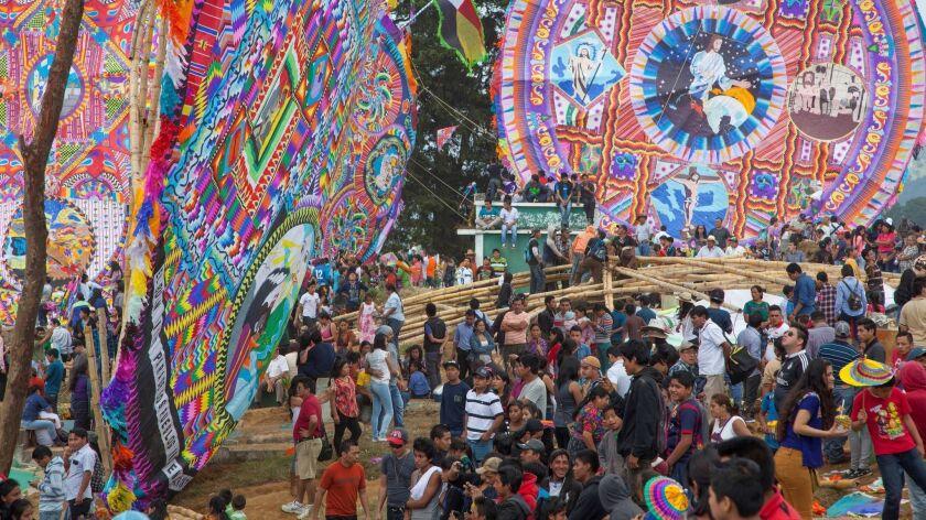 Giant kites, Guatemalan Kite Festival