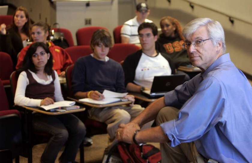 "In 2006, the student using a laptop in one of USC professor Geoffrey Cowan's classes didn't face the same set of distractions that pupils today face. Since he banned devices in one of his freshman courses three years ago, it's been ""a much more rewarding experience,"" he says."