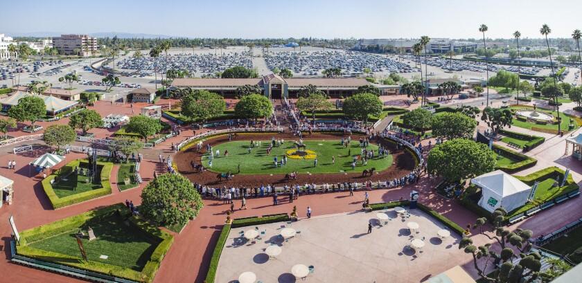 Santa Anita racetrack in 2015.