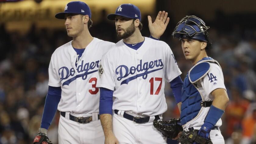Brandon Morrow, Cody Bellinger, Austin Barnes