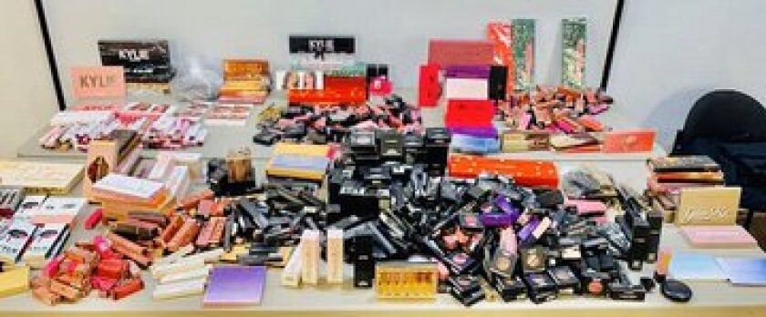 Confiscated counterfeit makeup