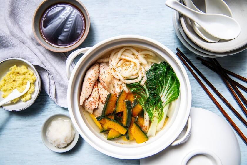 Japanese hot pot chicken soup
