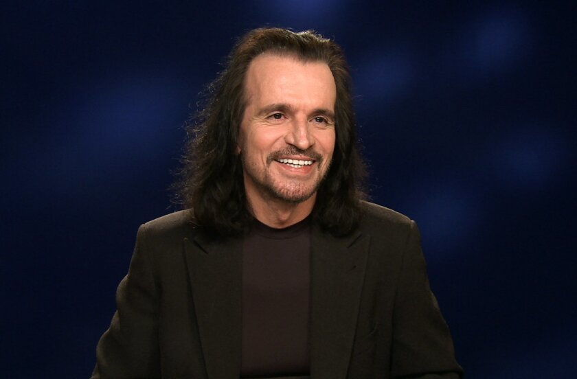 """In this Jan. 28, 2016 photo taken from video, Greek musician Yanni appears during an interview in New York. Yanni, who is currently on tour and has a new album, """"Sensuous Chill,"""" will debut a PBS special in March of a recent performance in Egypt at the Great Pyramids of Giza. (AP Photo/Bruce Barton"""